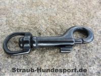 Karabiner Edelstahl schwarz Länge=67mm