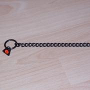 Halskette Edelstahl brüniert 50cm mit 2 Ringen