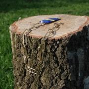 Langgliedkette mit 2 Ringen Messing 54cm