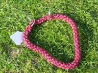 Halsband mit Zugstopp rot L=35cm 10mm