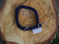 Halsband mit Zugstopp marine L=40cm 10mm