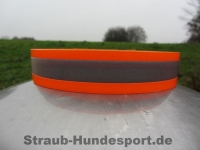 Biothane Warnhalsung Orange 25mm XS