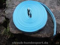 gummierte Nylonleine 20mm breit 15m ohne Handschlaufe Farbe: blau