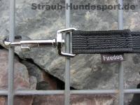 gummierte Nylonleine 20mm breit 1m ohne Handschlaufe Farbe: schwarz