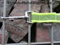 gummierte Nylonleine 20mm breit 2m mit Handschlaufe Farbe: neongelb