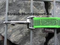 gummierte Nylonleine 20mm breit 2m mit Handschlaufe Farbe: neon grün
