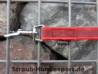 gummierte Nylonleine 20mm breit 2m mit Handschlaufe Farbe: rot