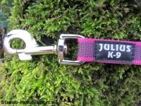 gummierte Sportleine pink 20mm breit 1,20m mit Handschlaufe