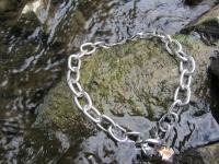 Halskette medium 2 Ringe (Edelstahl) 4mm L=54cm