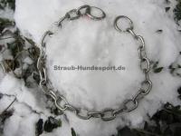 Halskette medium 4mm 2 Ringe (Edelstahl matt) L=64cm