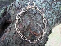 Halskette medium 2 Ringe (Messing) L=50cm