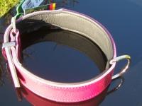 Halsband Basic Nickel brombeer/schwarz L= 37cm