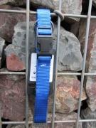 Nylonhalsband Basic Click 40-55cm blau