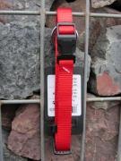 Nylonhalsband Basic Click 30-45cm rot