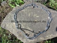 Schauhalsband mit Impulsverstärkern Edelstahl 72cm