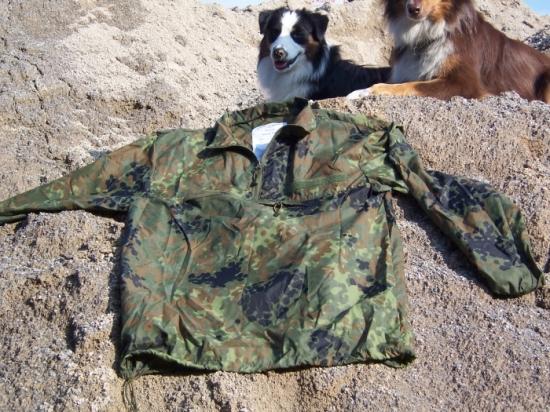 Tacgear Windshirt in Grösse: S und Farbe: flecktarn