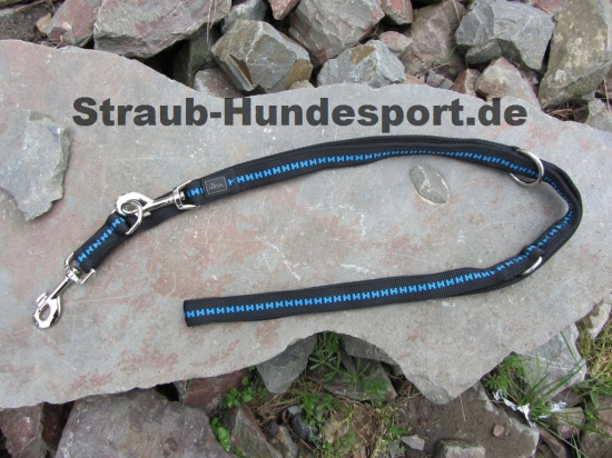 dreifach verstellbare Führleine von Hunter in schwarz blau