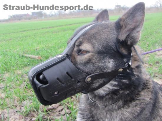 Ledermaulkorb von Julius-K9 aus Stierleder für Zoll und Polizei entwickelt
