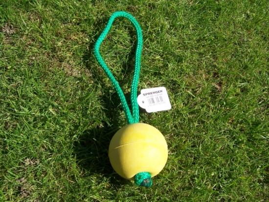 Moosgummiball schwimmfähig in gelb für Hunde