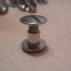 Buchschraube / Schraubniete offen Länge 5mm Nickel