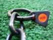 Halskette medium 2 Ringe (Edelstahl brüniert) L=50cm