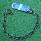 Halskette medium 2 Ringe (Edelstahl brüniert) L=67cm