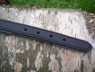 Lederhalsband Super Soft schwarz / grau L= 42cm