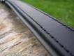 Lederhalsband Super Soft schwarz / grau L= 47cm