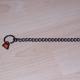 Halskette Edelstahl brüniert 40cm mit 2 Ringen