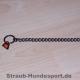 Halskette Edelstahl brüniert 30cm mit 2 Ringen
