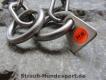 Halskette medium 2 Ringe (Edelstahl matt) L=54cm GRAVIERT