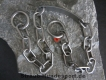 Halskette medium 2 Ringe (Edelstahl matt) L=68cm GRAVIERT