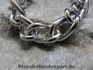 Halskette runde Glieder 2 Ringe (Stahl verchromt) L=40cm GRAVIERT