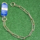 Langgliedkette mit 2 Ringen Messing 58cm