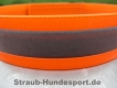 Biothane Warnhalsung Orange 25mm M