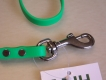 Biothane Führleine 1,20m neongrün mit Handschlaufe