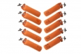 Firedog Set Standard Dummy orange 500gr nummeriert