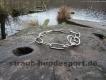 Langgliedkette mit 2 Ringen 4mm Edelstahl matt 63cm