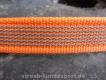gummierte Nylonleine 20mm breit 15m ohne Handschlaufe Farbe: neon orange