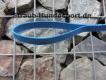 gummierte Nylonleine 20mm breit 1,2m mit Handschlaufe Farbe: blau