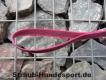 gummierte Nylonleine 20mm breit 1,2m mit Handschlaufe Farbe: pink