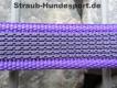 gummierte Nylonleine 20mm breit 1,2m mit Handschlaufe Farbe: violet