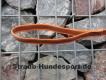 gummierte Nylonleine 20mm breit 2m mit Handschlaufe Farbe: neon orange