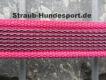 gummierte Nylonleine 20mm breit 2m ohne Handschlaufe Farbe: pink