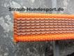 gummierte Nylonleine 20mm breit 5m ohne Handschlaufe Farbe: neon orange