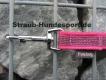 gummierte Nylonleine 20mm breit 5m ohne Handschlaufe Farbe: pink