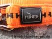 verstellbare Führleine orange schwarz 2m