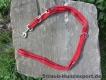 verstellbare Führleine rot schwarz 2m