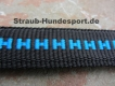 verstellbare Führleine schwarz blau 2m