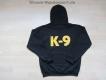 K9 Pullover mit Kapuze schwarz Grösse: XL
